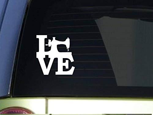 Supersticki Love letters met naaimachine naaien 20 cm stickers, autostickers, stickers, decal, muurtattoo, van hoogwaardige folie, uv- en wasstraatbestendig,