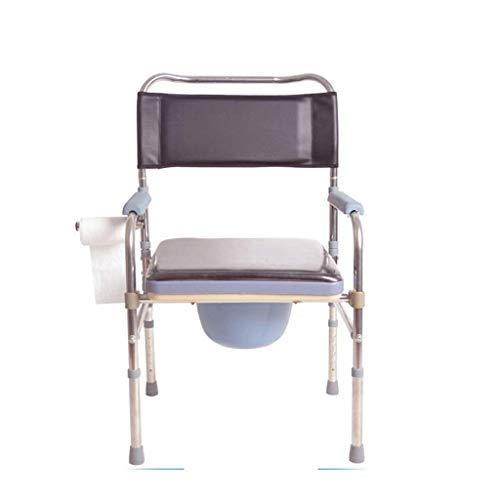 LXDDJZXQ Roller, Stuhl für ältere Menschen, Faltbare Toilette, Schwangere Frauen können die Behinderten-WC, ältere Menschen Bad anpassen