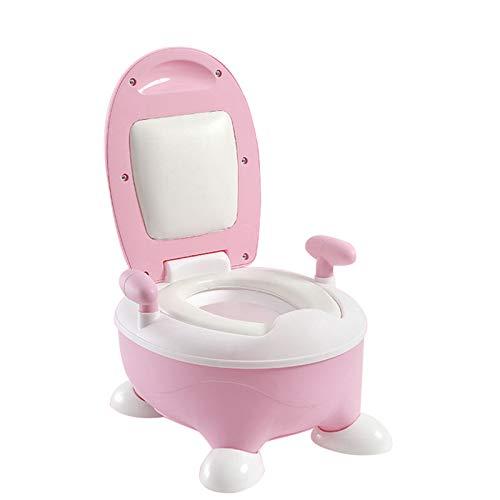 HXLQ Pot De Toilette De Formation Enfant Fille, Chaise De Pot Bébé Chaise De Pot Enfant Avec Poignée, Dossier Souple + Tapis Anti-dérapant Et Anti-glissement Stable