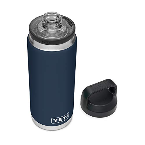 YETI Rambler 26 oz Bottle, Vacuum Insulated, Stainless Steel with Chug Cap, Navy