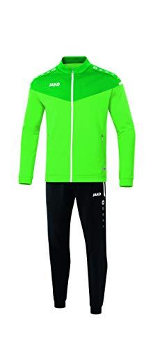JAKO Kinder Champ 2.0 Trainingsanzug Polyester, Soft Green/Sportgrün, 140