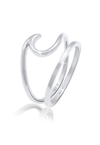 Elli Ring Damen Ring-Set Welle Basic Maritim aus 925 Sterling Silber