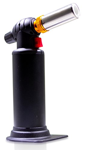 Butane Torch Black Dragon (Black) Heavy Duty Micro Blow Torch for Soldering-Big Tank- Plumbing- Refillable Butane Torch- Jewelry-Torch for Home and Kitchen-Adjustable Flame-Metalsmithing-Brazing