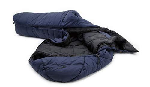 Carinthia TSS 2021 Quechua - Saco de dormir interior, talla L, color azul marino y negro