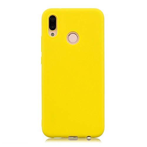 LIANLI Candy Macaron - Carcasa para Xiaomi Pocophone F1 Mi A1 A2 Lite 5X 8 SE 6X Redmi 4A 4X Note 4 5A 5 Plus 6 Pro 6A S2 Soft Cases (Color: Amarillo, Tamaño: Redmi Note 4X 32GB)