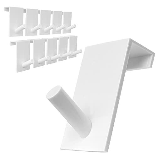 Türhaken Set 10 Stück - schlichte Kleiderhaken für Garderobe, Bad und Küche, einzeln verwendbar
