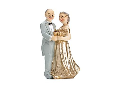 PartyDeco STATUINA Topper SPOSI 50 Anni Matrimonio Nozze Decorazione Torta Cake Anniversario,...