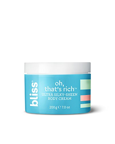Bliss Oh, That's Rich Ultra Silky-Sheen Body Cream | Instantly Absorbs | Smooth & Soothe the Driest Skin | Paraben Free, Cruelty Free | 7.0 oz