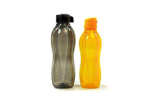Tupperware to Go Eco - Botella ecológica (1,0 L, 750 ml), color negro