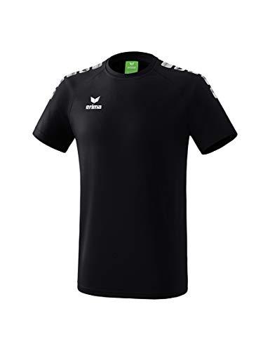 Erima Erwachsene ESSENTIAL 5-C T-Shirt, schwarz/Weiß, M