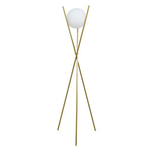 MASODHDFX Moderne glazen bol gouden vloerlamp statief staande lampen metalen vloerlampen voor woonkamer slaapkamer verlichting decoratie, groot