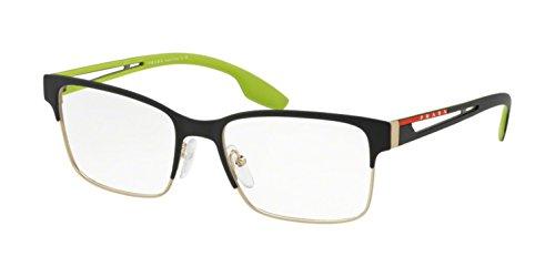 Prada LINEA ROSSA 0PS 55IV Monturas de gafas, Black Rubber/Pale Gold Rubber, 53 Unisex