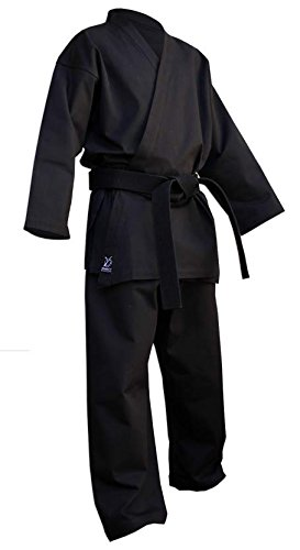 DOUBLE Y Kimono Karate Deluxe Noir 190 cm