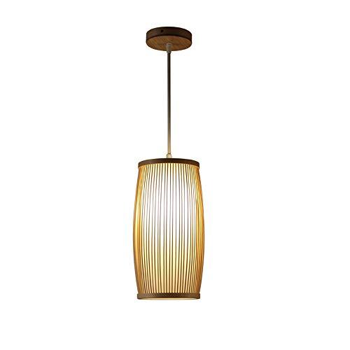 MAMINGBO Lámpara de bambú Araña de la vendimia Sola Cabeza Colgante Lámpara de Luz de Techo Industrial Retro Estilo Rural Comedor Restaurante Bar Cafe Iluminación E27 (Color : Style A)
