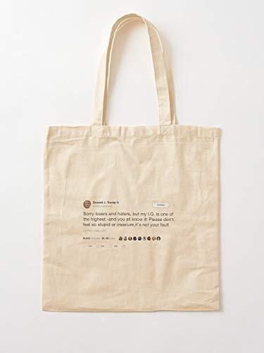 Twitter President Funny Ideas Trump Tweets Tote Cotton Very Bag | Bolsas de supermercado de lona Bolsas de mano con asas Bolsas de algodón duraderas