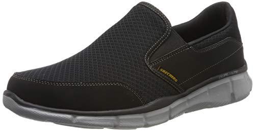Skechers Equalizer Persistent Men Low-Top Sneakers, Black (Black/Grey), 11 UK (46 EU)