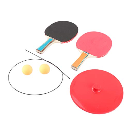 Read About TOYANDONA 7pcs Table Tennis Trainer Elastic Soft Shaft Single Double Ping-Pong Trainer Pr...