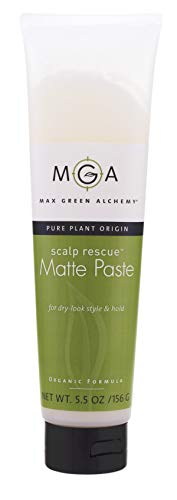 Scalp Rescue Matte Paste Tube (5.5 Ounces) - Organic Formula For Dry Look Style and Medium Hold, Invisible, Restylable, Unisex, Vegan, Non Greasy, PVP Free