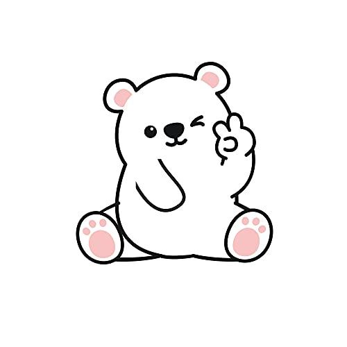 Hwjmy Adhesivo de pared para niños, diseño de oso de dibujos animados, diseño de panada