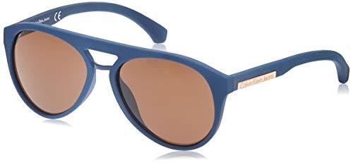 Calvin Klein Jeans Unisex Zonnebril voor volwassenen, blauw (blauw), 56
