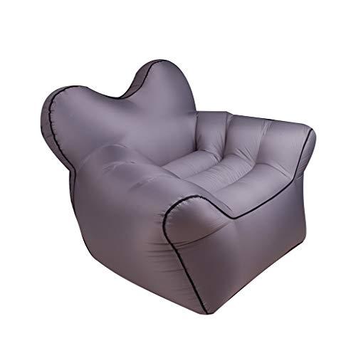 Outdoor Air Sofa, opblaasbare ligstoel imitatie nylon stof opvouwbaar draagbare luchtmatras waterdichte bank hangmat perfect voor wandelen, kamperen of dagen op het strand 0911TY