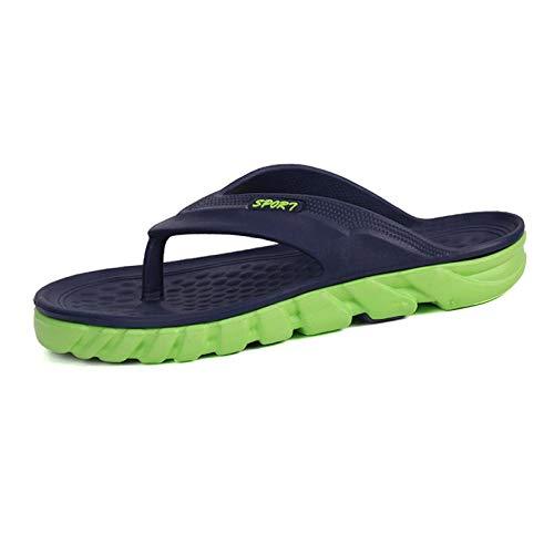 Zapatillas de Estar por Casa Ultraligera,Zapatos de Piscina Chanclas de PlayaDeslizamiento zapatillas al aire libre palabras humanas arrastrar, usar zapatos casuales de playa afuera-azul verde_41