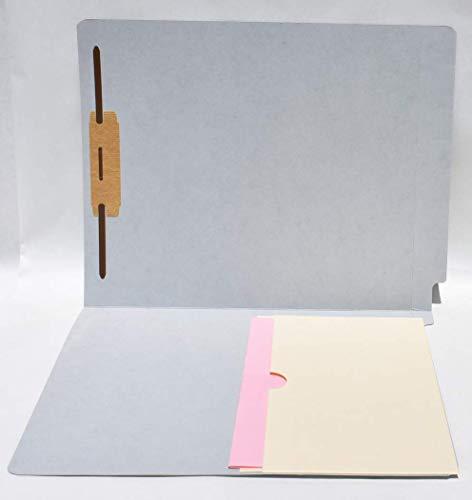포켓 폴더 글자 크기 W | REINFORCED 끝 탭 11PT 5 깊은 하나의 주머니 마닐라에서 좌 접착 잠그개에 권리자의 50(회색 14PT)