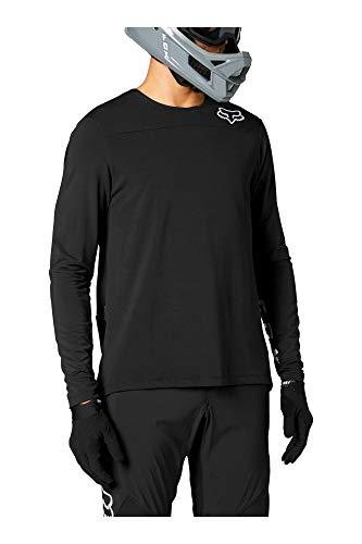 Fox Racing Men's Defend Delta Long Sleeve Jersey Shirt, Black/Black, S