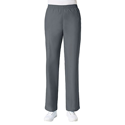 Maevn Women's Core Full Elastic Band Cargo Pants(Pewter, Small)