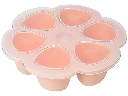 Béaba - Babynahrung Portionsbehälter aus Silikon, 6x150ml, rosa