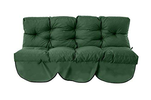 Gardenista Garden Swing Hammock Seat Bench Cushion | Canopy Outdoor Patio Furniture Cushion | Water Resistant and Easy Clean Fabric | Soft Touch & Comfortable (Green)