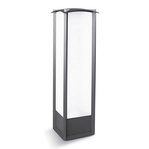 Leds C4 Éclairage extérieur en aluminium avec polycarbonate mat Gris urbain