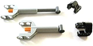 LEGO TECHNIC - 2 x Mechanical Control Cylinder (Linear Actuator) Mini with Brackets by