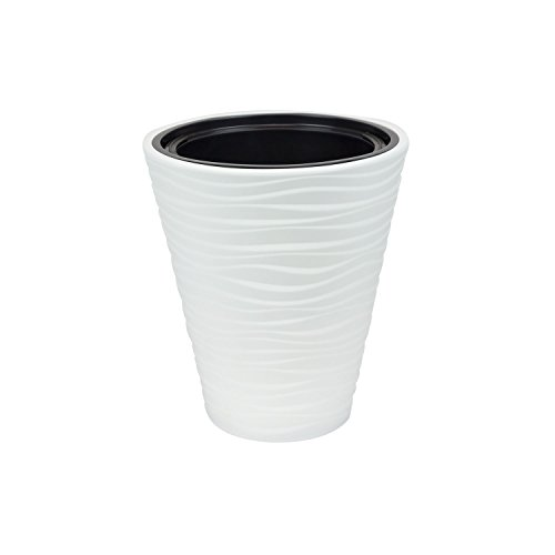 Sahara cache-pot 35 cm en plastique, couleur blanche