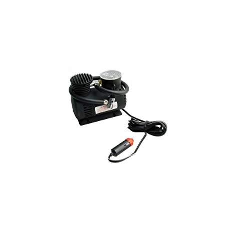 takestop Mini COMPRESSORE Nero 12 Volt 250 PSI con Presa ACCENDISIGARI per Auto Moto Camper Campeggio Piccolo Leggero E Portatile Emergenza