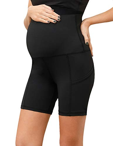Maternity Over The Belly Yoga Shorts with High Stretch