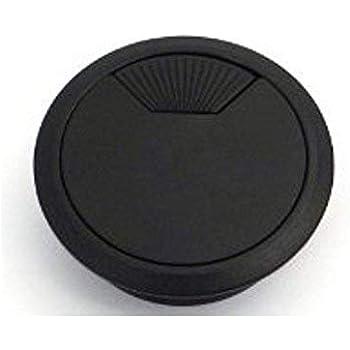 2 x Noir Câble 60 mm PORT COUVRE