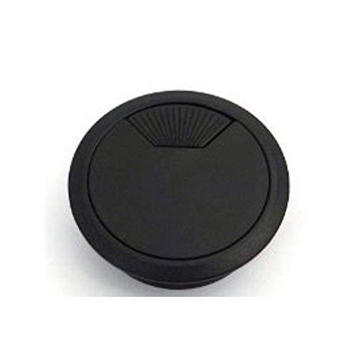 2 Pezzi SO-TECH Passacavo Guida Cavo Plastica Ø 60 mm nero