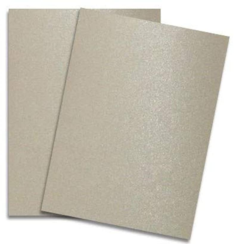 Shimmer Sand 8-1/2-x-11 Cardstock Paper 25-pk - PaperPapers 2pBasics 290 GSM (107lb Cover) Letter Size Card Stock Paper - Business, Card Making, Designers, Professional and DIY Projects