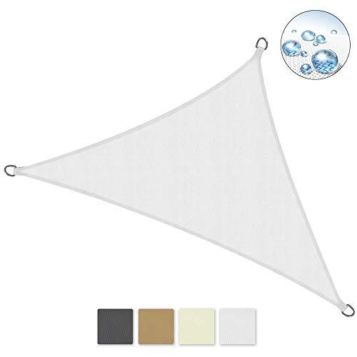 Sol Royal Tenda a Vela Impermeabile Triangolare 600x420x420 cm SolVision PS9 - Protezione Anti Raggi UV - Bianco