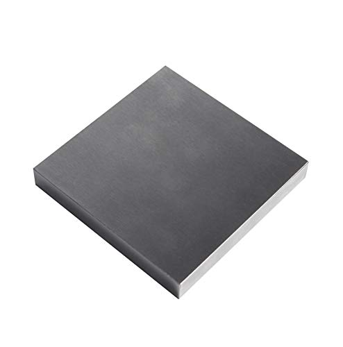 HimaPro Steel Bench Block 4'x4' Flat Anvil Jewelers Tool Metal Bench Block for Jewelry & Stamping (4''x4''x1/2'')