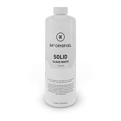 EKWB EK-CryoFuel Solid Cloud White (Premix 1000mL) Kühlmittel, weiß, 1 Liter