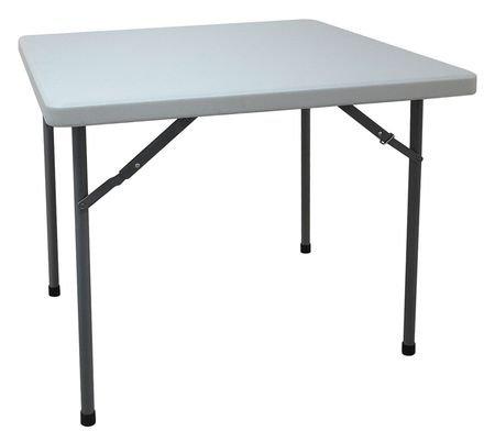 "Square Folding Table, 36""D x 36""W x 30""H White"
