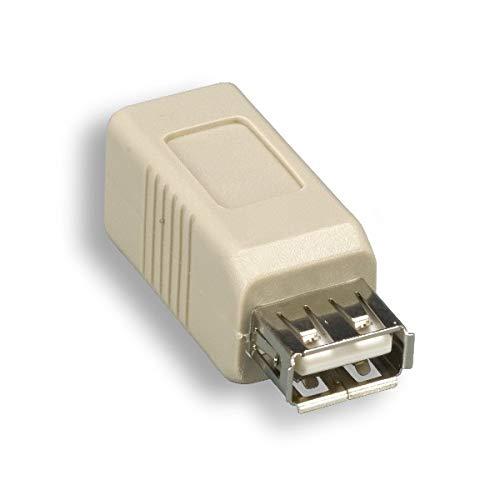 KENTEK USB 2.0 Type A Female to Type B Female F/F Converter Extender Gender Changer Adapter Coupler for Printer Scanner Modem PC Computer Laptop