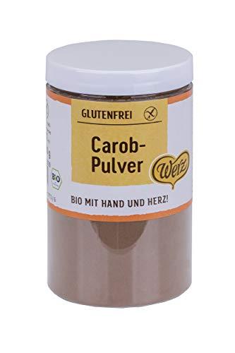 Werz Carob-Pulver glutenfrei, 1er Pack (1 x 200 g Dose) - Bio