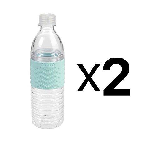 Wilton Copco Reusable 16.9oz Tritan Chevron Hydra Water Bottle Blue (2-Pack)