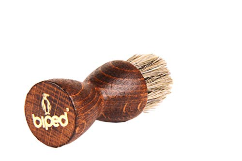 biped Schuhbürste Diabolo Tiegelbürste mit Rosshaar - zum auftragen von Schuhcreme z2442(helles Rosshaar)