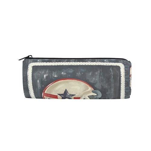 Federmäppchen in Zylinderform, für Rugby-Fußball, Helm, Stifteetui, mit Reißverschluss