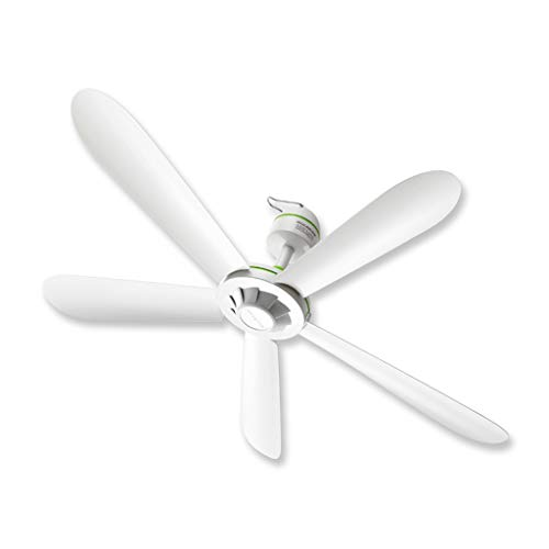 Zyj-Ceiling fan light Ventilador de Techo con Control Remoto y luz LED integrada Regulable Frosted Fixture Farmhouse White (tamaño : 70cm)
