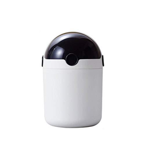 Bote de Basura Mini Papelera Papelera Bote de Basura Dispensador for tocador de baño mostrador o Mesa - Disponer de esponjas de Maquillaje, Tejidos Cubo de Basura (Color : Black)